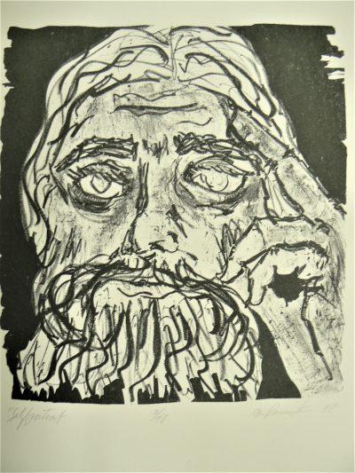 Self Portrait, lithograph