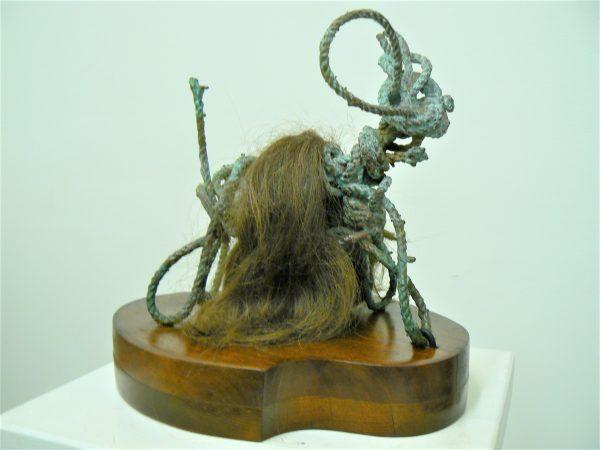Ralph the Yak, petina bronze and artist's hair