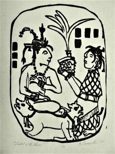 Tablet of Slaves, wood block print