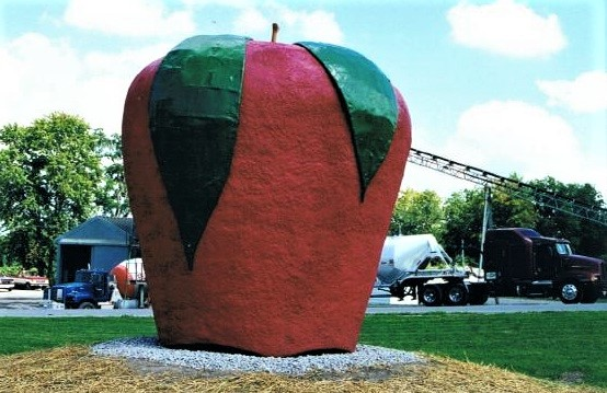 The Big Apple, steel armature, granite and fiberglass