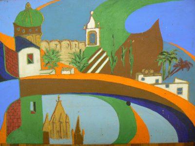 San Miguel, acrylic on canvas