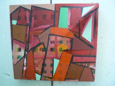 City Scape, acrylic on canvas